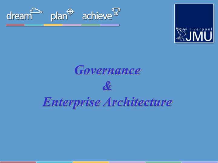 Governance enterprise architecture