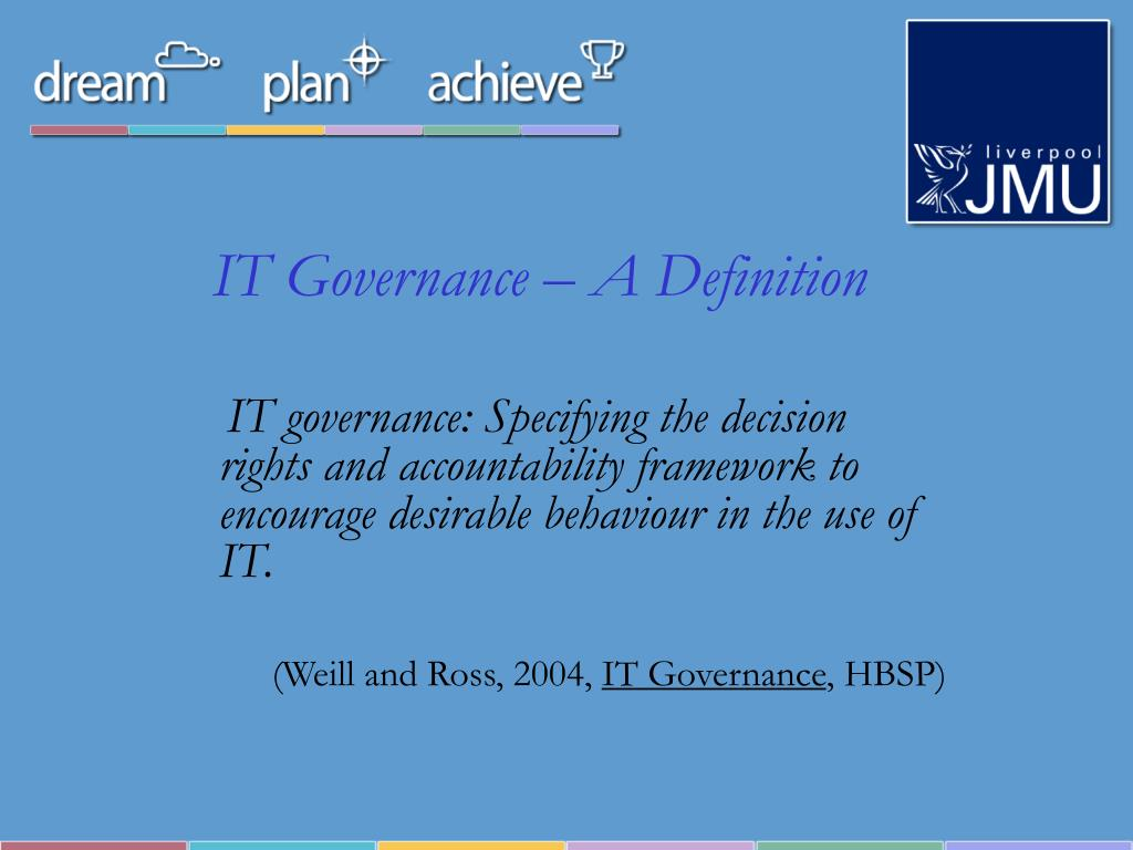 IT Governance – A Definition