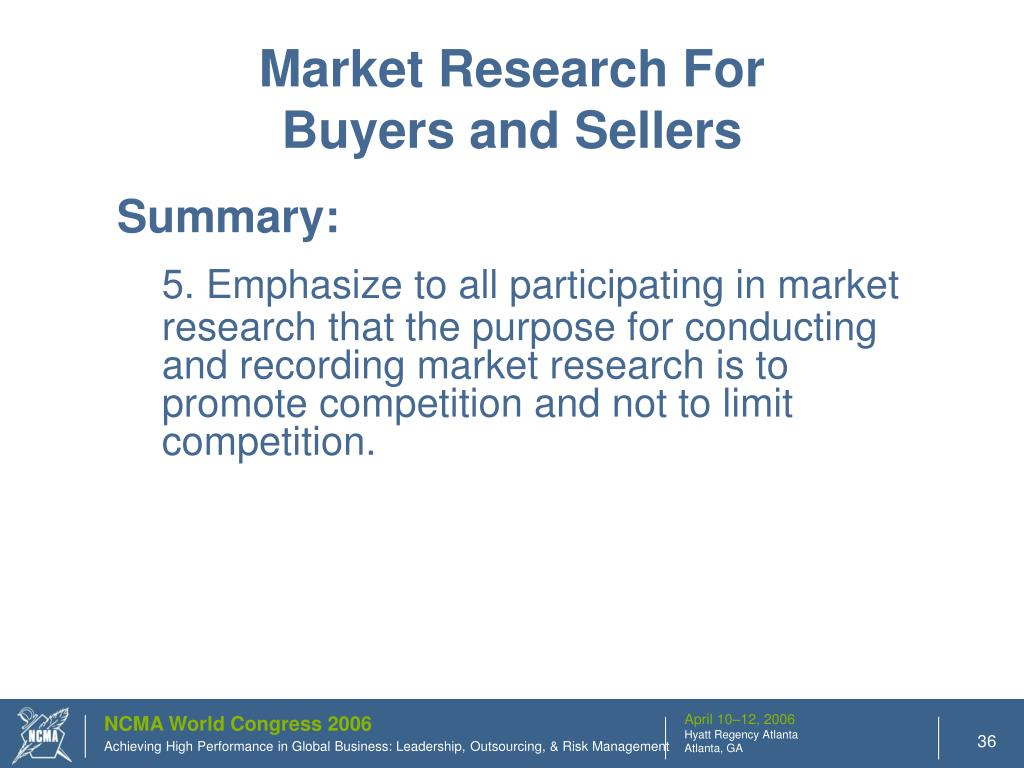 Market Research For