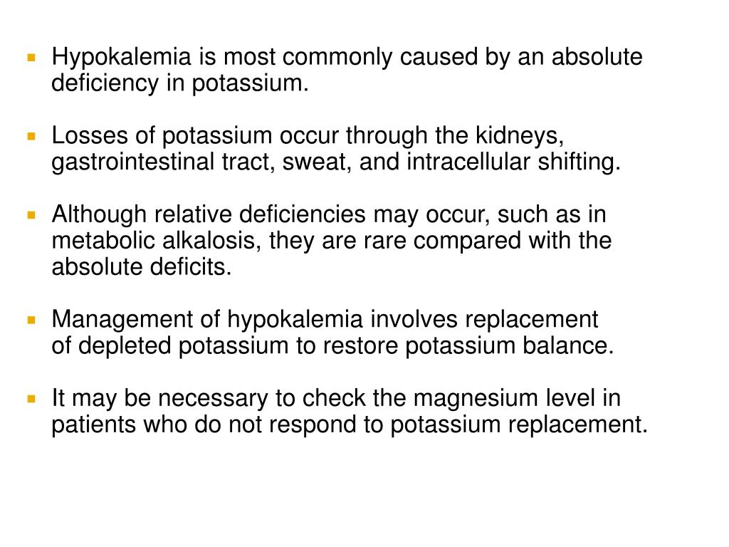 Hypokalemia is most commonly caused by an absolute