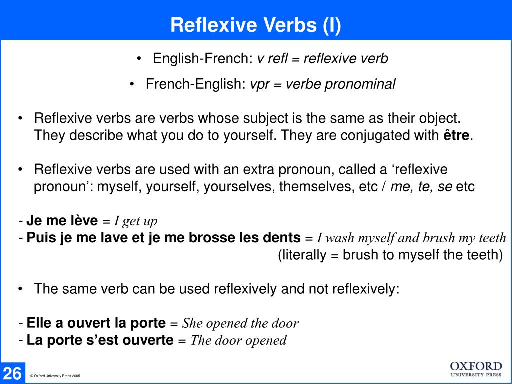 Reflexive Verbs (I)