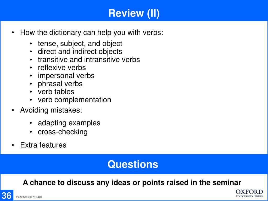 Review (II)