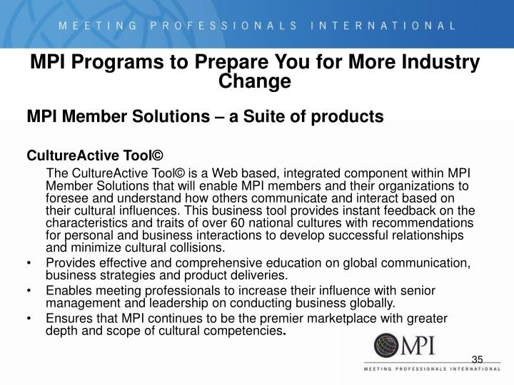 MPI Programs to Prepare You for More Industry Change