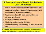4 ensuring fairness of benefit distribution to local communities