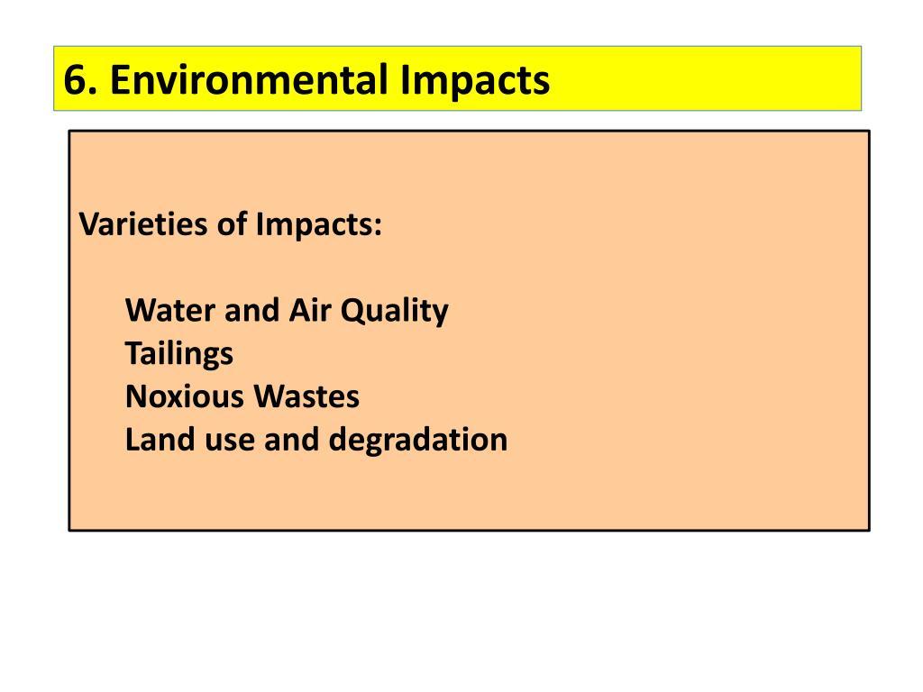 6. Environmental Impacts