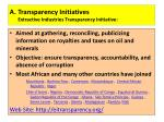 a transparency initiatives extractive industries transparency initiative
