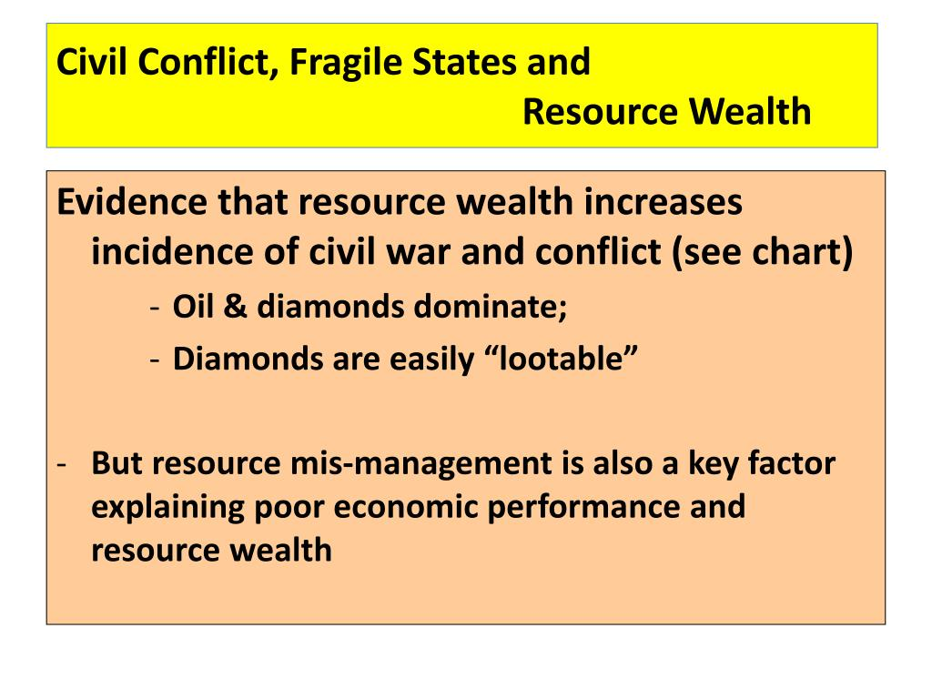 Civil Conflict, Fragile States and