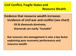 civil conflict fragile states and resource wealth