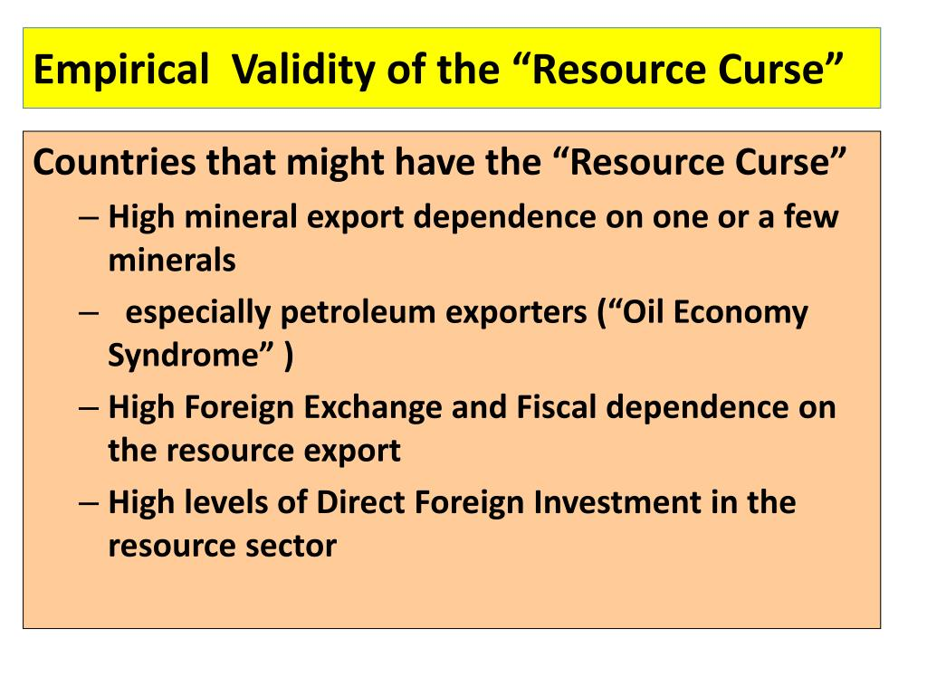 "Empirical  Validity of the ""Resource Curse"""