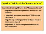empirical validity of the resource curse