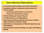 i some historical observations