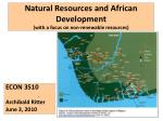 natural resources and african development with a focus on non renewable resources