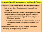 resource wealth management and fragile states