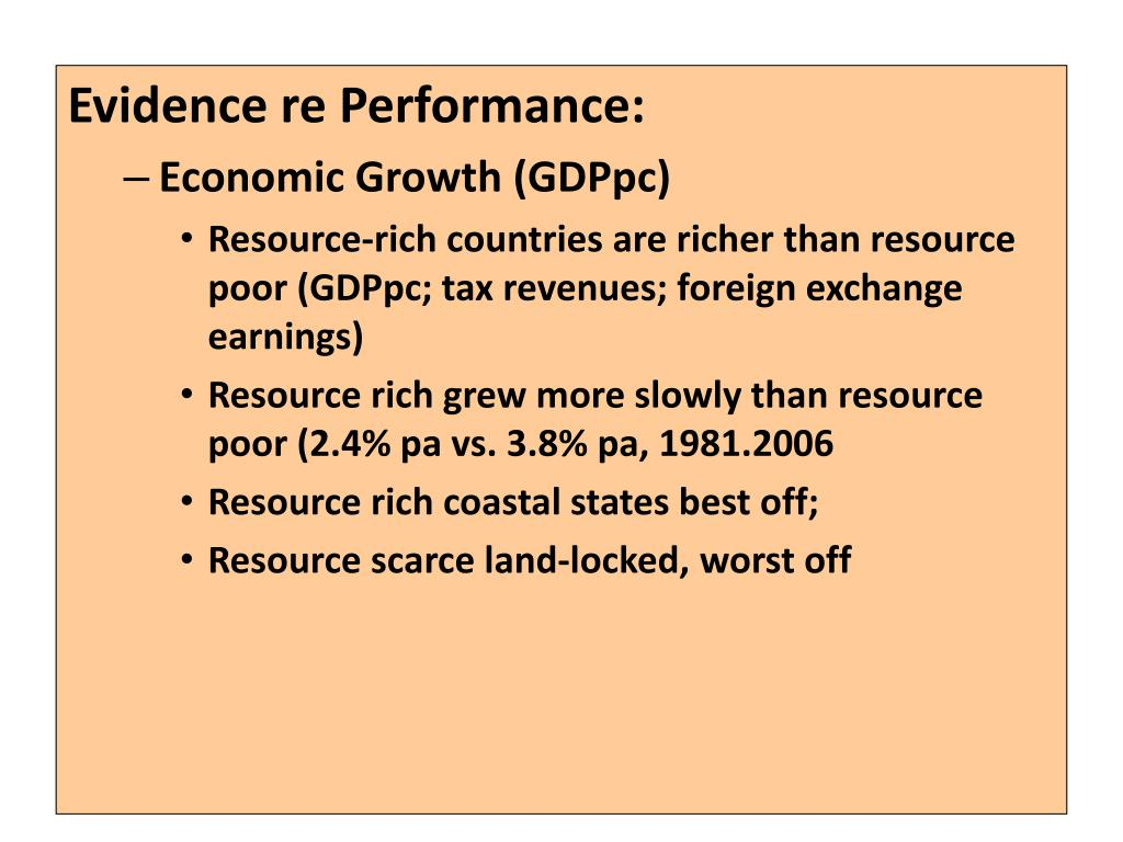 Evidence re Performance: