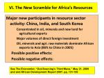vi the new scramble for africa s resources