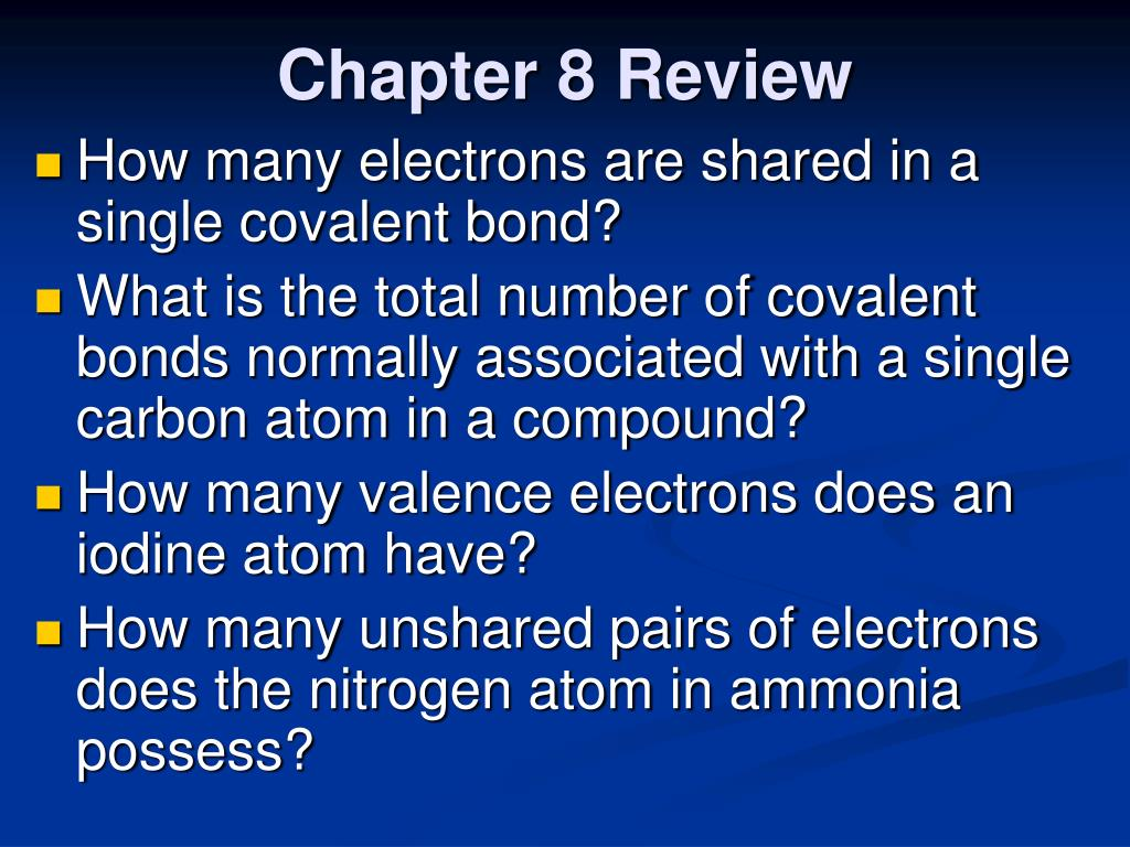 PPT - Chapter 8 Review