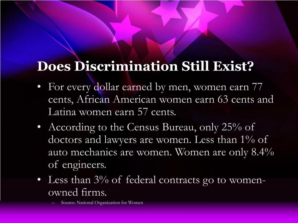 Does Discrimination Still Exist?