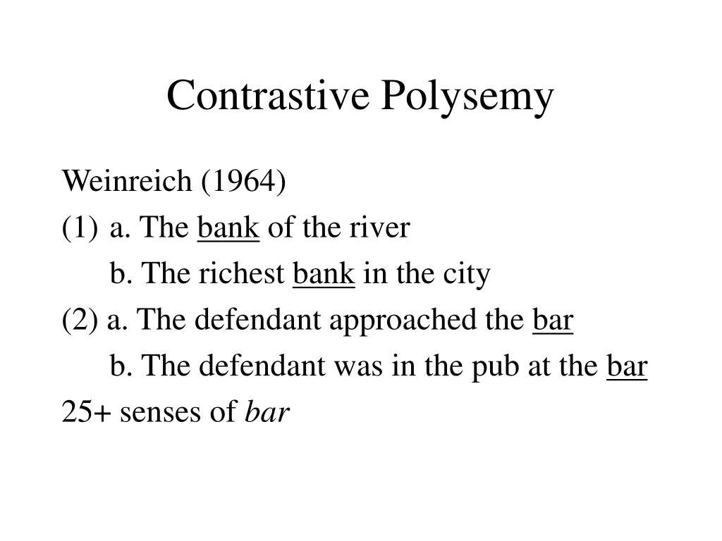 Contrastive Polysemy