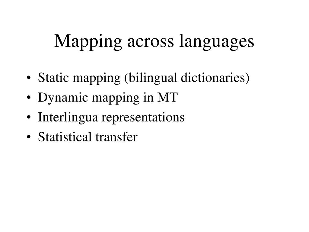 Mapping across languages