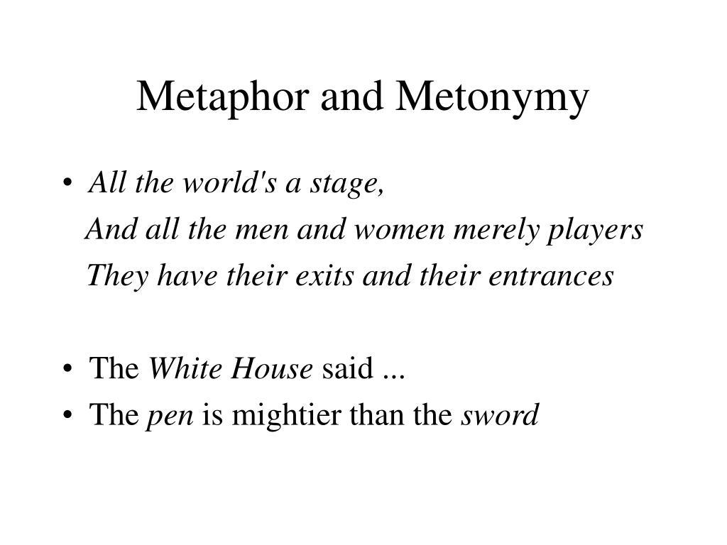 Metaphor and Metonymy