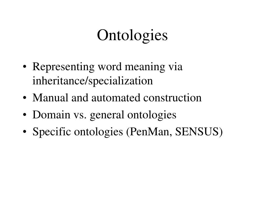 Ontologies
