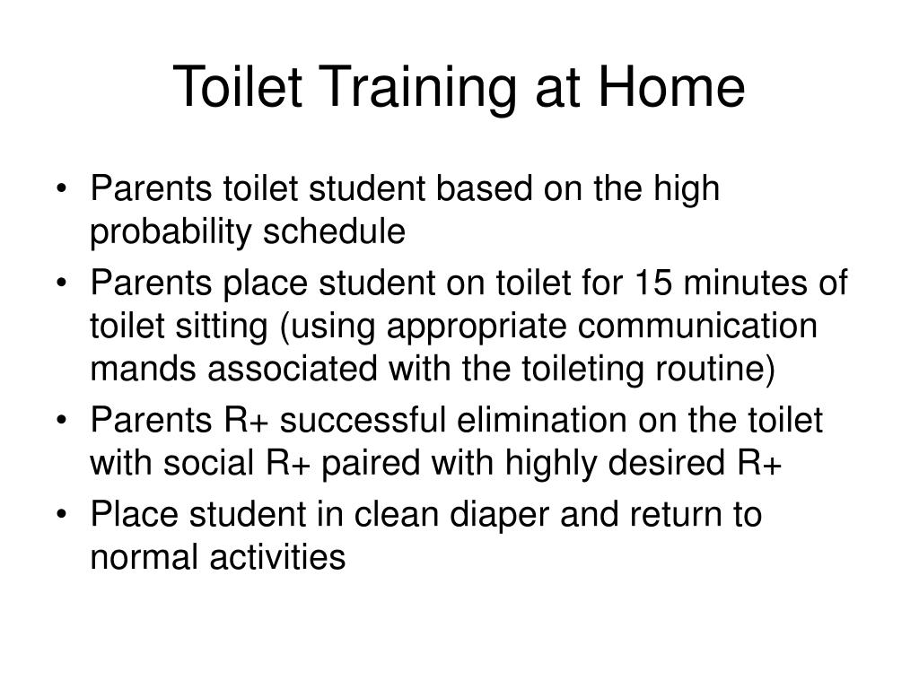 Toilet Training at Home