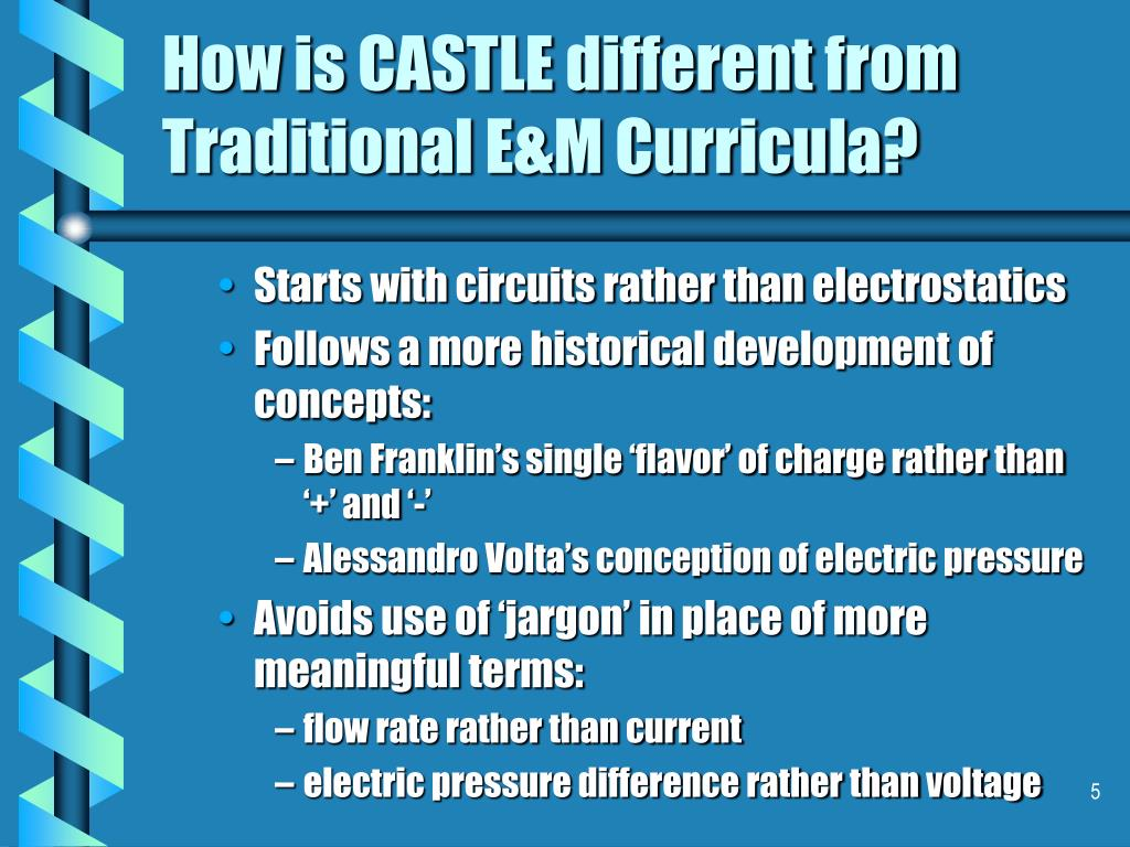 How is CASTLE different from Traditional E&M Curricula?