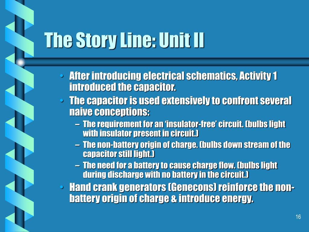 The Story Line: Unit II