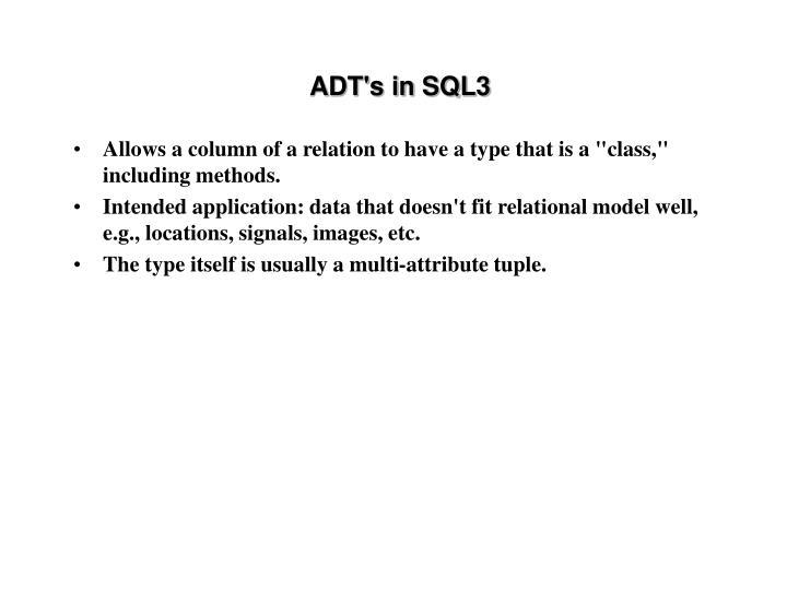 ADT's in SQL3
