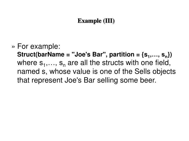 Example (III)