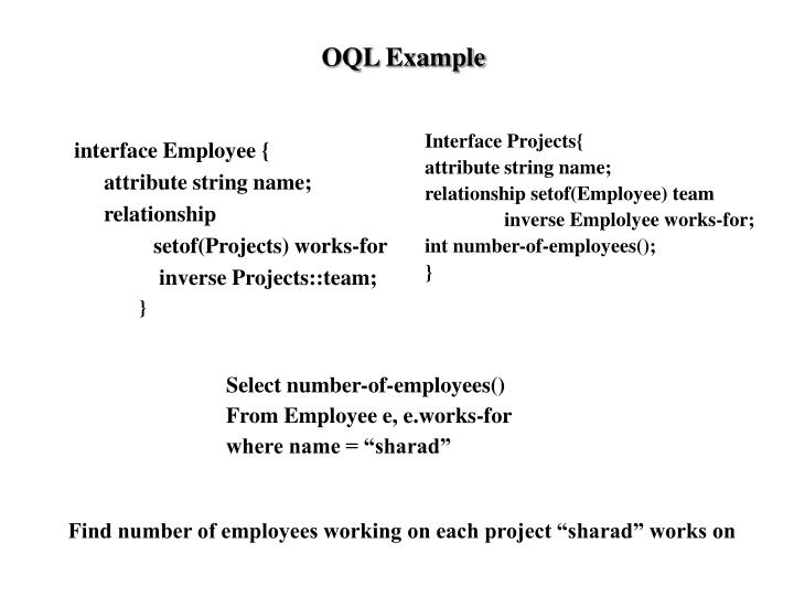 OQL Example