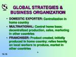 global strategies business organization