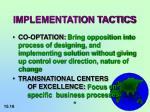 implementation tactics