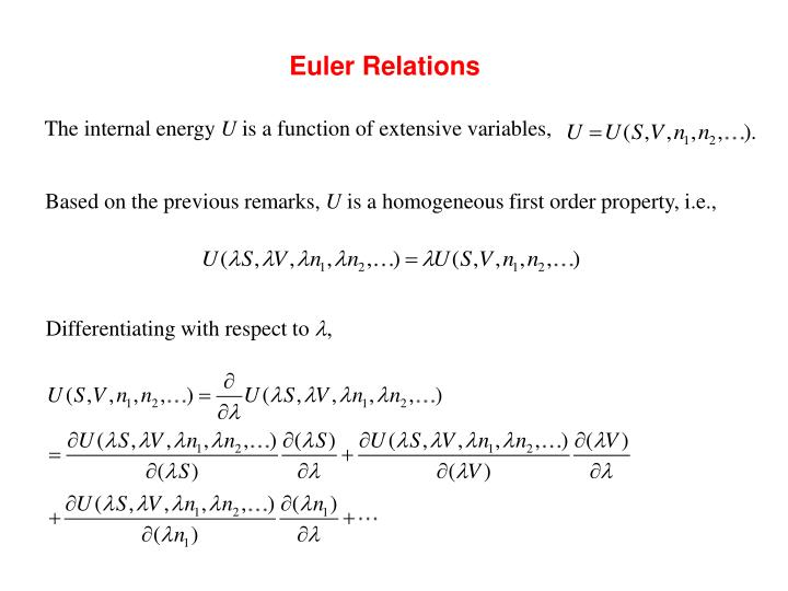 Euler Relations