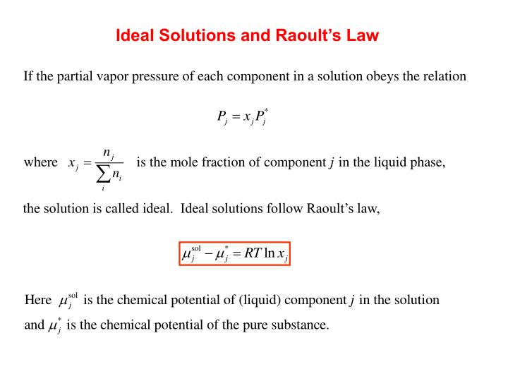 Ideal Solutions and Raoult's Law