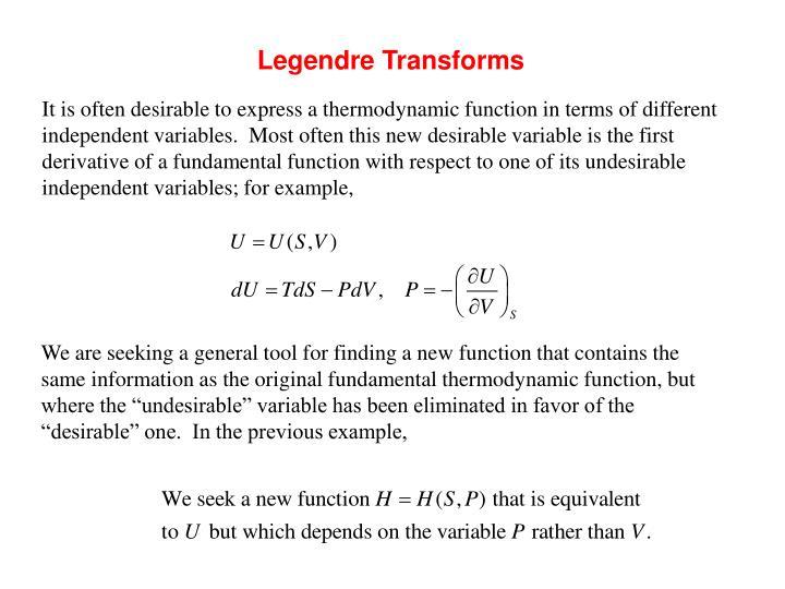 Legendre Transforms