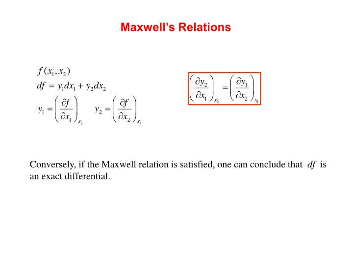 Maxwell's Relations