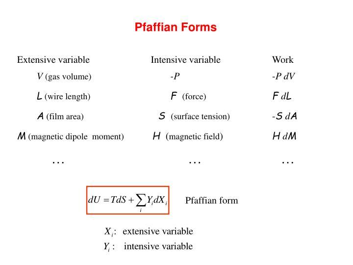 Pfaffian Forms
