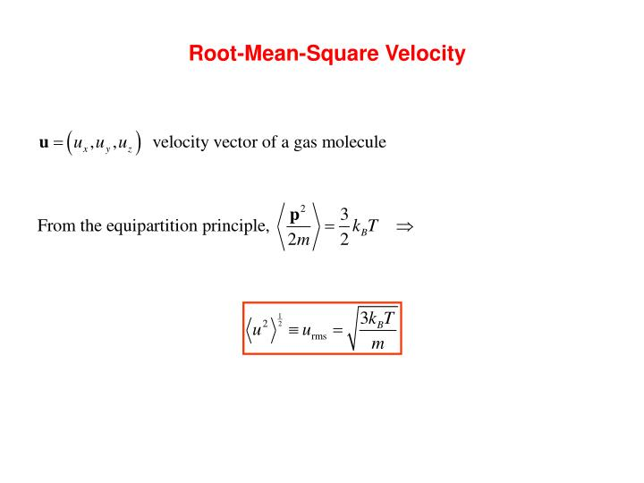 Root-Mean-Square Velocity