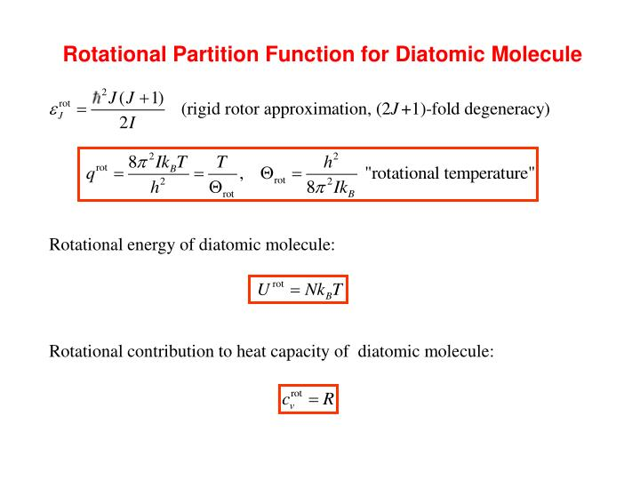 Rotational Partition Function for Diatomic Molecule