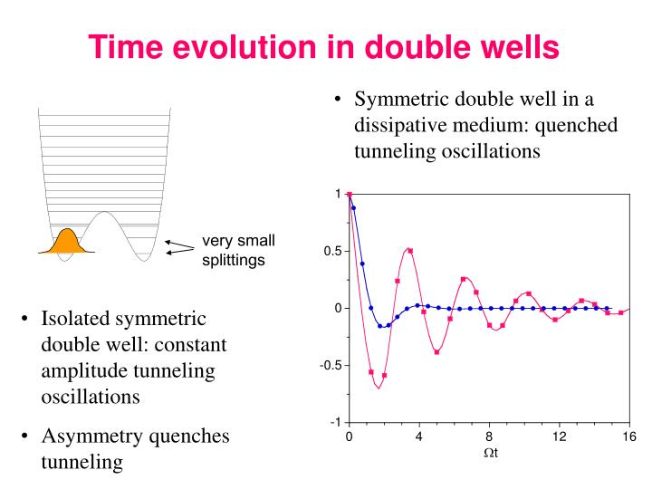 Time evolution in double wells