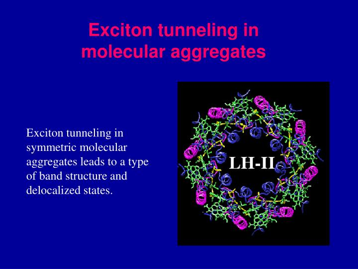 Exciton tunneling in molecular aggregates