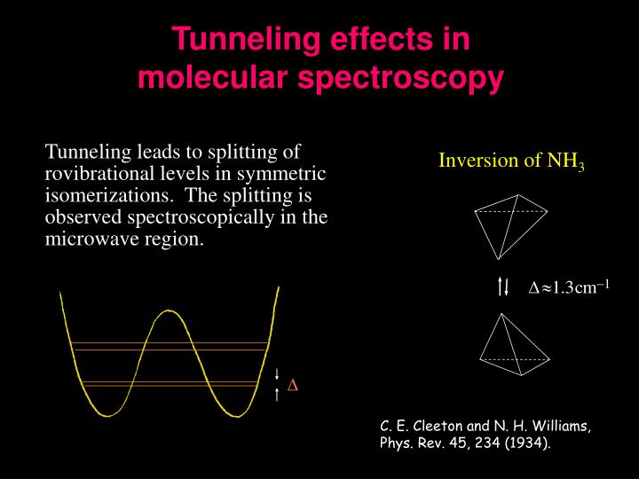 Tunneling effects in