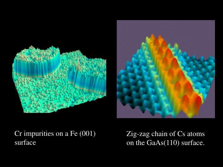 Cr impurities on a Fe (001) surface