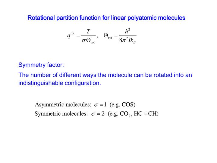 Rotational partition function for linear polyatomic molecules