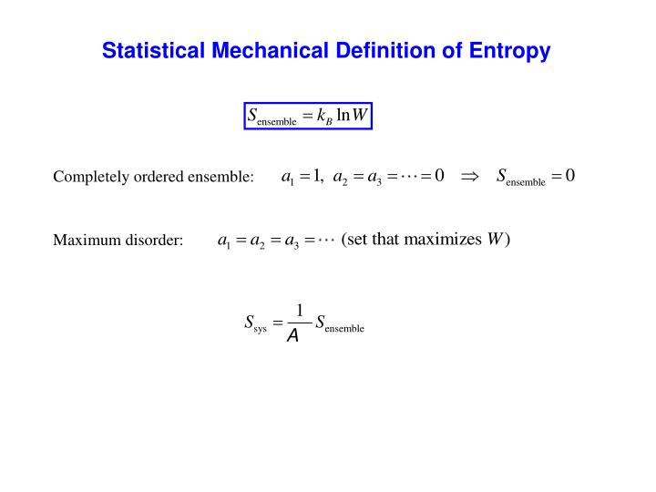 Statistical Mechanical Definition of Entropy