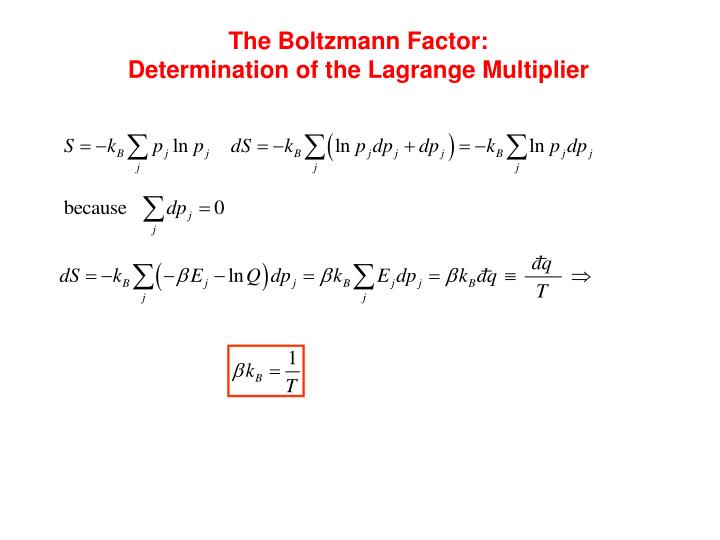 The Boltzmann Factor: