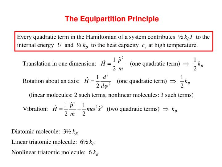 The Equipartition Principle