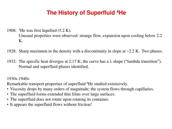 The History of Superfluid