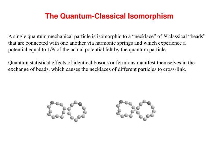 The Quantum-Classical Isomorphism